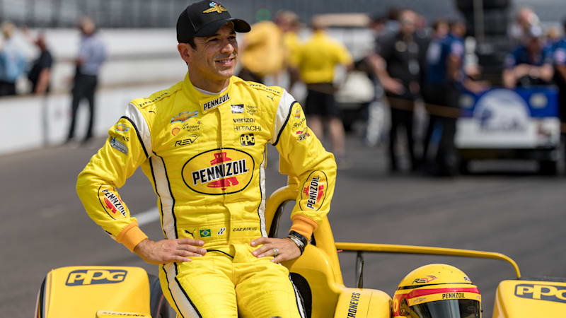 helio-castroneves-driver-of-the-team-penske-chevrolet-poses-for-picture-id960283212