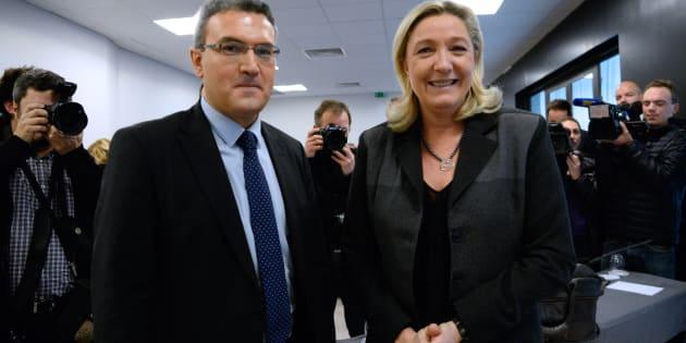 Aymeric Chauprade et Marine Le Pen au printemps 2014.