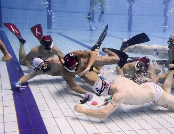 Underwater hockey might be the next big sport