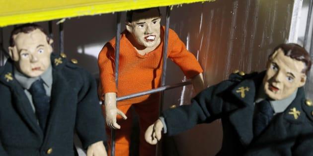 """La figura encarcelada de José Enrique Abuín Gey, conocido como El """"Chicle"""", autor confeso del asesinato de Diana Quer."""