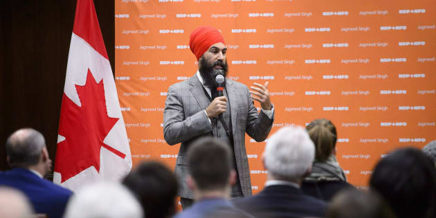 NDP Leader Jagmeet Singh addresses the NDP staff forum in Ottawa on Dec. 4, 2018.