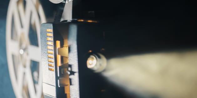 Película en un proyector.