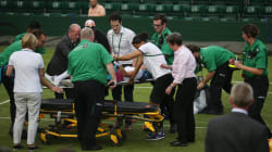 VIDEO: La lenta atención de Wimbledon ante el accidente de una