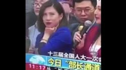 Reportera china voltea los ojos en televisión abierta y las redes no lo