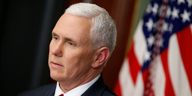 US Vice President Mike Pence arrives for a joint press conference by US President Donald Trump and Canada's Prime Minister Justin Trudeau in the East Room of the White House on February 13, 2017 in Washington, DC. / AFP / MANDEL NGAN        (Photo credit should read MANDEL NGAN/AFP/Getty Images)