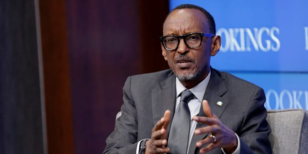 "Rwandan president Paul Kagame speaks about ""Flagship Reforms for a More Effective African Union,"" at the Brookings Institution in Washington, U.S. September 21 2017."