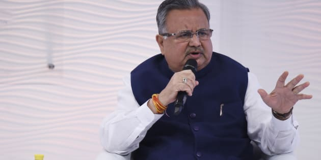 Chhattisgarh chief minister Raman Singh in a file photo.