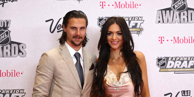 Erik Karlsson of the Ottawa Senators and wife Melinda attend the 2017 NHL Awards at T-Mobile Arena on June 21, 2017 in Las Vegas, Nevada.