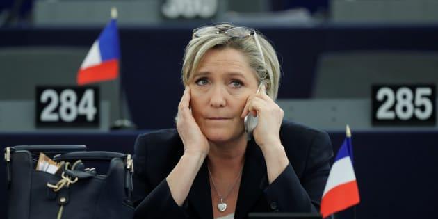 Marine Le Pen au Parlement européen en janvier 2017.