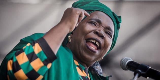 Former AU commission chairperson Nkosazana Dlamini-Zuma.
