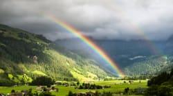 El maravilloso vídeo que muestra que el arcoíris completo