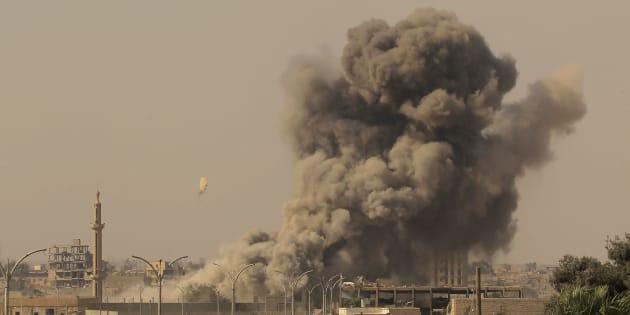 'Libération' du rond-point où l'EI menait les exécutions publiques à Raqa