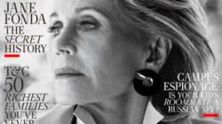 """ジェーン・フォンダ、79歳。""""無修正""""で雑誌の表紙を飾る"""