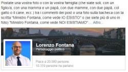 """""""Noi esistiamo"""". Troll-bombing delle famiglie gay sulla pagina di Fontana. Lui cancella le"""