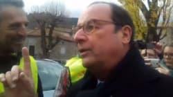 Hollande défend son bilan face à des gilets