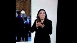 El gesto en directo de esta intérprete de lenguaje de signos lo dice