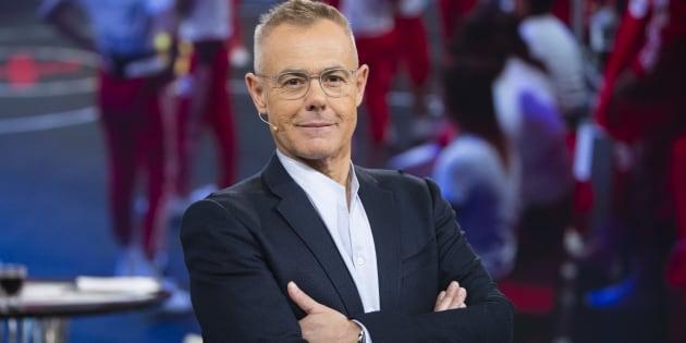 El presentador Jordi González durante el debate del programa 'Gran Hermano Revolution' en 2017.