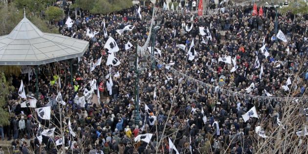 La manifestation nationaliste organisée à Ajaccio, le 3 février 2018.