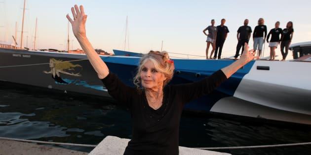 La actriz gala Brigitte Bardot, durante un acto promocional en Saint-Tropez en septiembre de 2014.