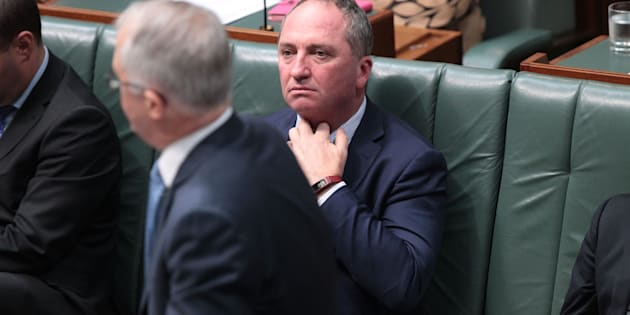 Deputy Prime Minister Barnaby Joyce during House of Representatives question time at Parliament House on Oct. 25, 2017 in Canberra, Australia.