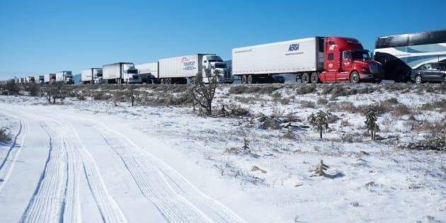 La carreterera que comunica a Monterrey y Saltillo, el 9 de diciembre de 2017.
