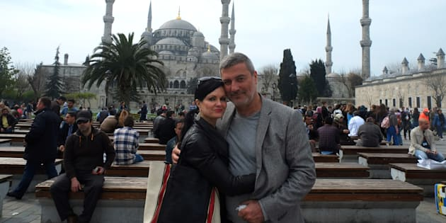 Benita Alexander and Paolo Macchiarini on tour in Istanbul, Turkey.