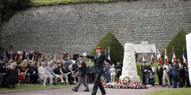 Commémoration du débarquement de Dieppe en 2012.