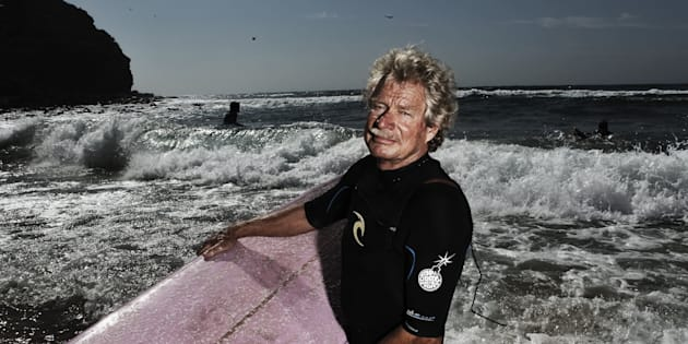 Midget Farrelly surfing at Avalon Beach in 2012.