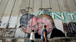 An Aussie Artist Painted A West Bank Mural Of Trump And Netanyahu Hooking