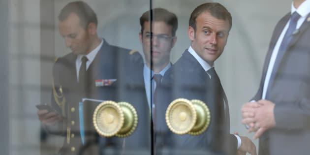 Emmanuel Macron à l'Elysée le 28 mai.