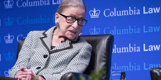 Ruth Bader Ginsburg, ici photographiée à l'université de Columbia le 21 septembre dernier, est sortie de l'hôpital ce vendredi.