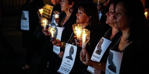 Una vigilia contra los asesinatos de mujeres, en una imagen de archivo.