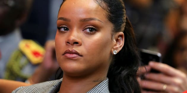 Singer Rihanna attends a conference organized by the Global Partnership for Education in Dakar, Senegal, Feb. 2, 2018.