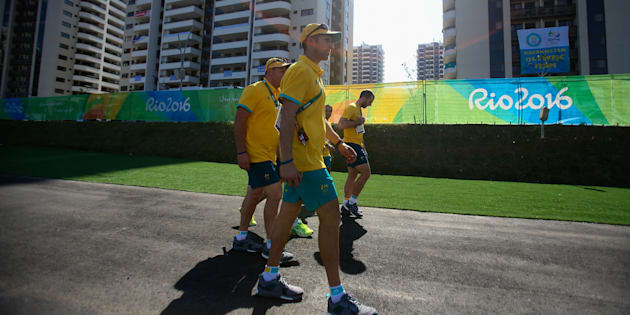 A fire has erupted in the Australian team's building at Rio.