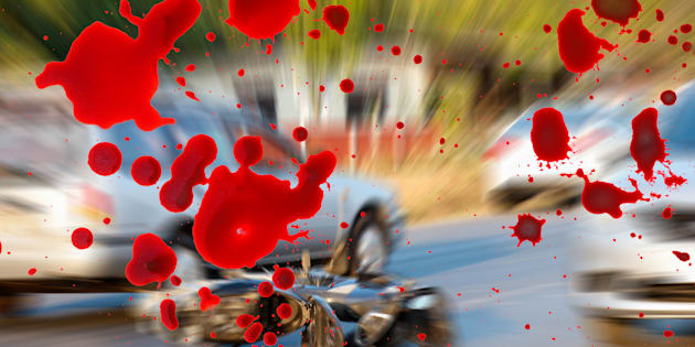 Motorcycle accidents on the road.