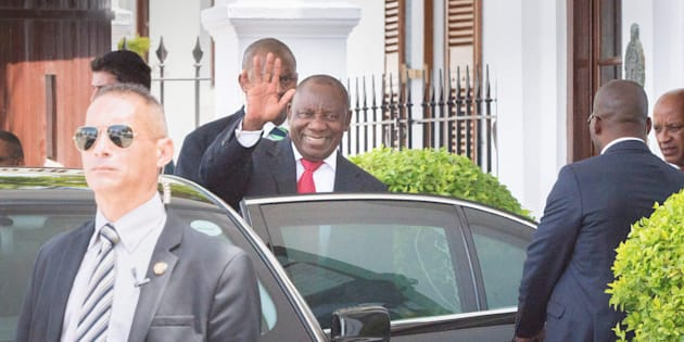I got this... Deputy President Cyril Ramaphosa earlier this week in Cape Town.