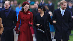 Royal Family Cheered By Crowds As They Attend Christmas