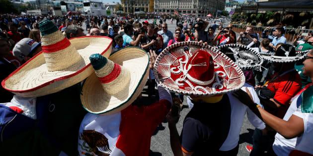 """Aficionados mexicanos no gritaron """"puto"""" en el partido de México vs Corea del Sur."""