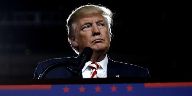 Donald Trump lors d'un meeting en Arizona le 4 octobre 2016