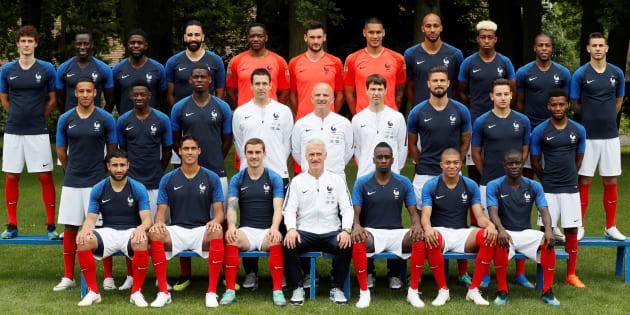 L'équipe de France à Clairefontaine, le 30 mai 2018