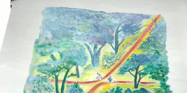 Fresque de Jean-Jacques Sempé à Paris