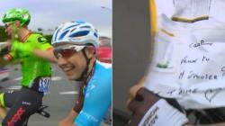 Cyril Gautier demande sa compagne en mariage pendant la dernière étape du Tour de