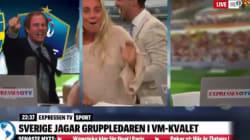 La joie totalement hystérique des commentateurs suédois après le but en toute fin de