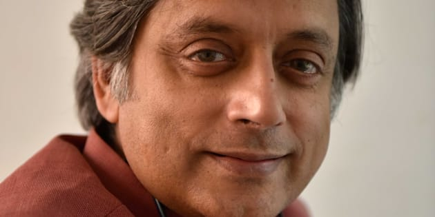 Congress MP Shashi Tharoor poses at the Jaipur Literature Fest 2017, on January 19, 2017 in Jaipur, India.