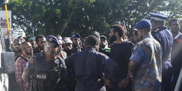 Protesters and police first clashed on June 8 in Port Moresby, Papua New Guinea.