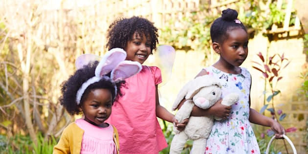 Image result for african american family easter egg hunt