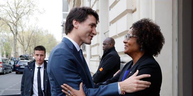 Justin Trudeau et Michaëlle Jean