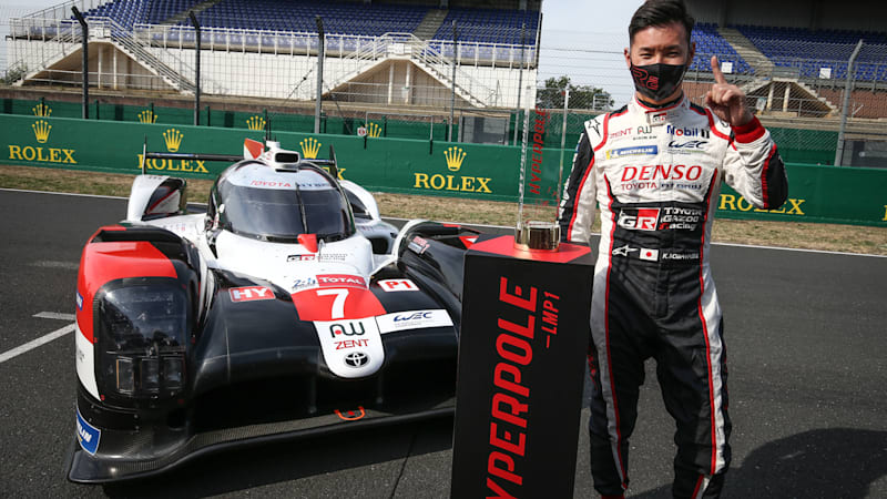 Kamui Kobayashi puts Toyota in pole position for Le Mans 24 Hours