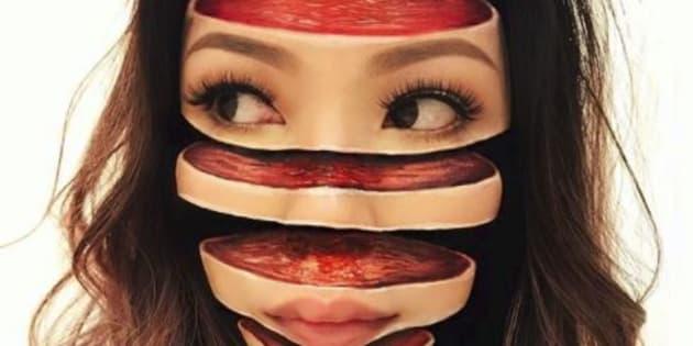 Ses maquillages illusions d'optique sont vraiment bluffants.