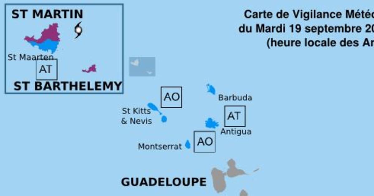 Ouragan Maria: Saint-Martin et Saint-Barthélémy en alerte violette